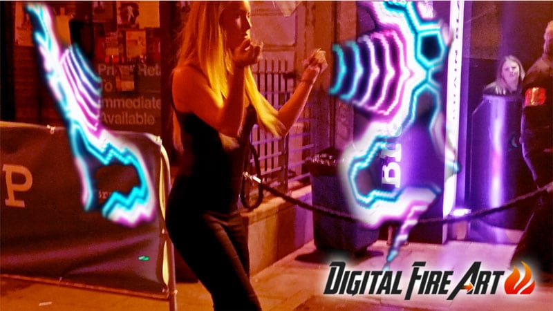 Digital Fire Poi with www.irishweddingbands.ie